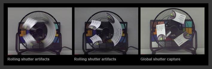 Rolling shutter artifacts