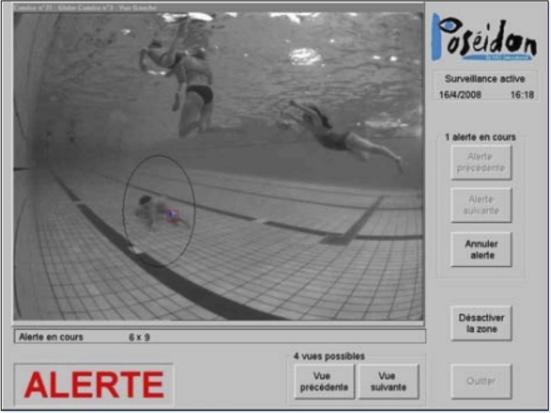 Poseidon Technologies drowning alarm system