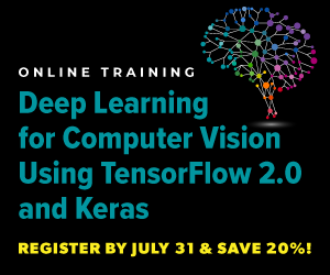 Online Training: Deep Learning for Computer Vision Using TensorFlow 2.0 and Keras