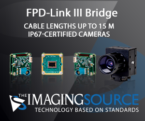 The Imaging Source cameras with FPD-Link III Bridge